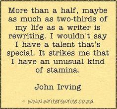 Quotable - John Irving - Writers Write Creative Blog
