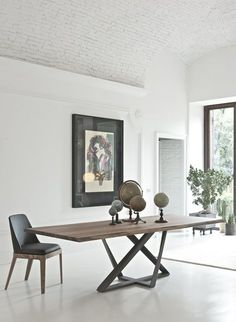 31 Of The Most Brilliant Modern Dining Table Design Ideas - Best Home Ideas and Inspiration Modern Dinning Table, Dinning Table Design, Dining Room Table, Wood Table Design, Wood Tables, Steel Table, Solid Wood Dining Table, Extendable Dining Table, Home Furniture