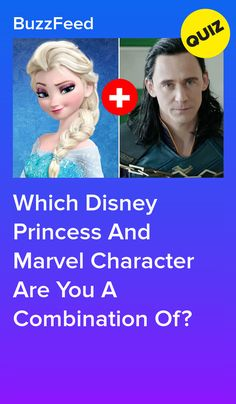 Which Disney Princess And Marvel Character Are You A Combination Of? Which Disney Princess And Marvel Character Are You A Combination Of? Disney Princess Quiz Buzzfeed, Disney Quiz, Disney Buzzfeed, Disney Facts, Disney Trivia, Disney Princess Facts, Disney Songs, Disney Memes, Disney Princesses