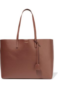Brown textured-leather (Calf) Snap-fastening tab at open top Comes with dust bag Weighs approximately 3.5lbs/ 1.6kg   Made in Italy