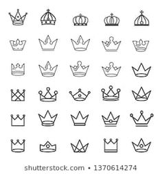 Similar Images, Stock Photos & Vectors of Crown logo graffiti icon. Black elements isolated on white background. Simple Crown Tattoo, Simple Finger Tattoo, Crown Tattoo Design, Crown Finger Tattoo, Key Tattoos, Small Tattoos, Sleeve Tattoos, Garter Tattoos, Rosary Tattoos