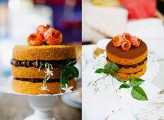 Naked Cake | Bolo rústico/pelado de cenoura com chocolate Fo… | Flickr - Photo Sharing!