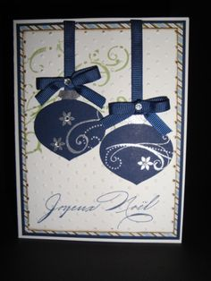 Ornament Punch, love navy and silver for Christmas!
