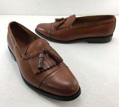 Allen Edmonds Dalton Cognac Brown Kiltie Tassel Loafers Shoes 9 D Made in USA #AllenEdmonds #LoafersSlipOns