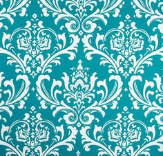 Wedding Turquoise and White Damask Table by exclusiveelements