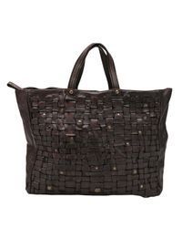 Campomaggi | Brown Basket Weave Tote | Lyst