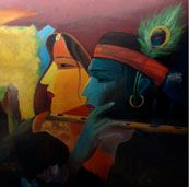 Beautiful Indian art paintings online for sale. Buy Indian art, sell original paintings online, artwork from established and emerging artists. Buy Paintings Online, Online Painting, Paintings For Sale, Oil Painting For Sale, Love Painting, Art For Sale Online, Art Online, Indian Art Paintings, Angel Art