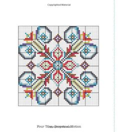 cross-stitch pattern ... no color chart available, just use the pattern chart as your color guide..