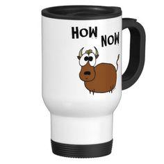 How Now Brown Cow Travel Mug