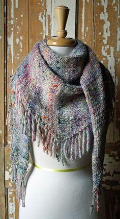 Self Fringing Shawl pattern by Amberly Frost free pattern