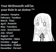 Mine is July ... well i do love ghouls but still they have a hard life.. ;(