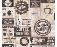 Carta da parati cucina Caffè Vintage black