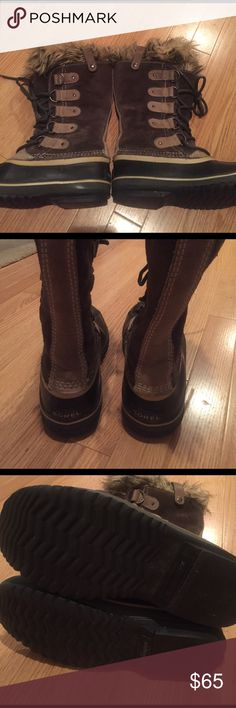 Sorels winter fur lined boots Used but not abused! Very warm and very cute! Size 7 Sorel Shoes Winter & Rain Boots
