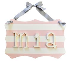 Our nursery Letters personalize your baby's room! Creating a personalized space for your baby has just gotten easier with our wooden letters and name plaques! Our wooden letters for nursery come in a variety of styles. Wooden Name Letters, Wooden Letters For Nursery, Wooden Initials, Big Letters, Nursery Name, Nursery Wall Decor, Personalized Name Plates, Little Girl Names, Diy Wood Signs