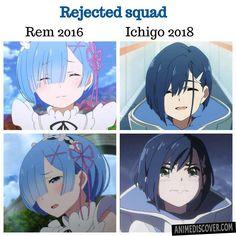 Short blue hair  Anime: Re:zero & Darling in the FranXX