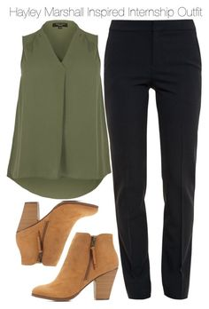 """""""Hayley Marshall Inspired Internship Outfit"""" by staystronng ❤ liked on Polyvore featuring Chloé, Charlotte Russe, to, Work, internship and hayleymarshall #workoutfits"""