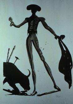 Toreo Noir, 1969, Salvador Dali