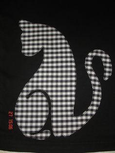 silhouette cat applique