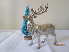 Vintage Reindeer Trinket Box, Pop Art Decoration Christmas Gifting, Elk Trinket Box, Container, by chulapoe on Etsy