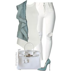 Pastel by highfashionfiles on Polyvore featuring polyvore fashion style Rick Owens (+) PEOPLE Casadei Hermès