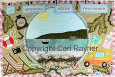 My first major piece of textile art. Memories of endless summers spent on Southsea beach.