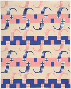 Fabric Design with Stripes, Poiret, 1918-25