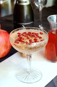 Try these sparkly pomegranate and rose-flavored champagne cocktails. Perfect for brunch parties and bridal showers.