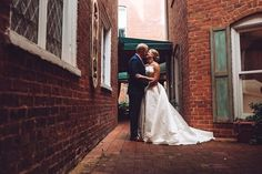 Red-bricked walls and white weddings dresses are the perfect combo White Weddings, White Wedding Dresses, Wedding Engagement, Wedding Day, Bride And Groom Pictures, Engagement Photography, Marriage, Walls, Red