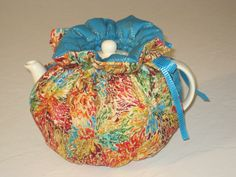 Teapot Cosy To Fit 4 to 6 Cup Teapots Is Reversible by CosyKozees, $19.99
