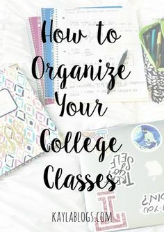 to Organize Your College Classes This post is all about how I organize my college classes. From labeling notebooks to color coding my notes!This post is all about how I organize my college classes. From labeling notebooks to color coding my notes! College Life Hacks, College Success, College Notes, College Classes, Education College, College Tips, College Ready, College Board, School Hacks