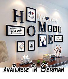 Bilderrahmen Von Hjky, Massivholz Set, Kreative Zusammenfassung, Rund 10  Moderne Bilder Für Das Wohnzimmer, Schlafzimmer , Wandkasten. Solides  Schwarz.