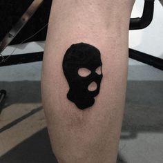 simple line ski mask tattoo Dope Tattoos, Mini Tattoos, Black Tattoos, Body Art Tattoos, New Tattoos, Small Tattoos, Forearm Tattoos, Tatoos, Ski Mask Tattoo