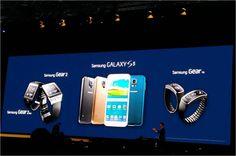L'annonce des 3 nouveautés : le #GalaxyS5, la #Gear2 et le #GearFit a fait fureur à l'#Unpacked5 ! #WMC