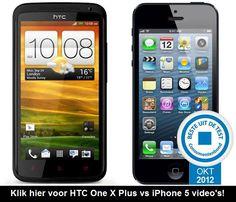Apple iPhone 5 vs HTC One X Plus - Verschillen Vergelijken