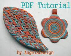 necklace polymer clay knitting flowers - Recherche Google
