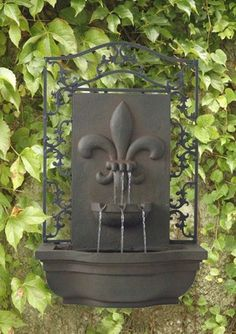 French Lily Outdoor Wall Water Fountain via Rumma.ge