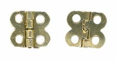 "Brass Plate Butterfly Hinges - 1/2"" h x 1/2""w - Pkg 2 Hinges"