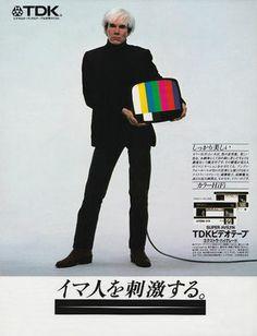 TDK・TDKビデオテープ×アンディ・ウォーホル | 「イマ人を刺激する。」