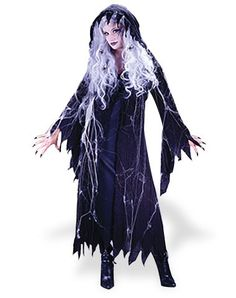 Spiderweb Ghost Costume - Rise from the dead and don this stunning Spiderweb…