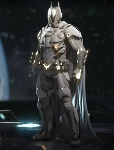 The White Kinght Batman Armor, Batman Suit, Batman Universe, Comics Universe, Batman Concept Art, Batman Hero, Batman Metal, Broly Movie, Comic Book Superheroes