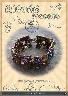 *P bracelet tutorial / pattern Alfred bracelet...PDF instruction for personal use only. $13.00, via Etsy.