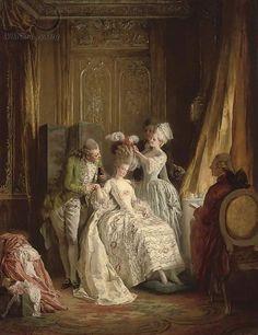 Marie Antoinette ~ Heinrich Lossow (German, 1843-1897)