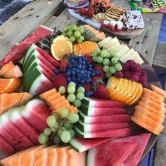 Tropical Platters, Fruit Salad, Cobb Salad, Princess Birthday Party Games, Fruit Platter Designs, Food Platters, Charcuterie Board, Fresh Fruit, Catering