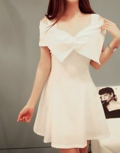 $5.95 White dress with big bow!