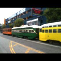 San Francisco - Tram  #san francisco #tram #usa #fisherman warf #tiltshift #cablecar