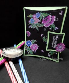 new creations: Floral fusion with black magic!