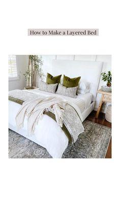 Cute Bedroom Decor, Room Ideas Bedroom, Home Bedroom, Adult Bedroom Decor, Bedding Master Bedroom, Hotel Bedroom Design, Master Bedroom Design, Interior Design Living Room, Home And Deco