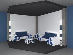 furniture set on Behance