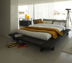 slender and delicate, the ligne roset ruché bed designedinga
