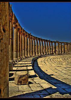 The City of a Thousand Column - Jerash (4/6) by •!¦[•M!sS JojO•]¦!•, via Flickr